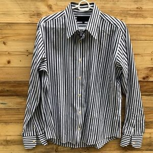 Ted Baker | Mens Striped Button Down Shirt Size 4